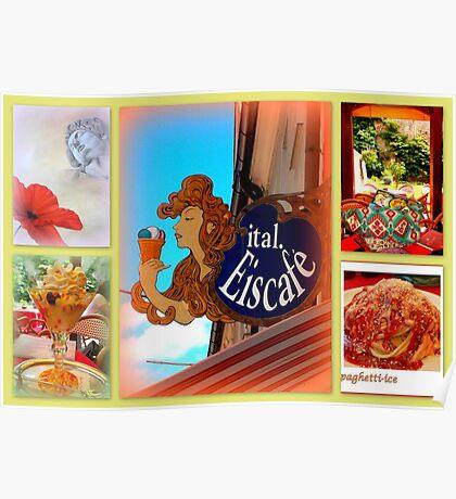 Italian Eiscafé in Füssen Poster