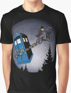 Fourth Doctor Fly With Bicycle Graphic T-Shirt
