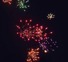 Vintage Florida Fireworks by Beth Mackelden
