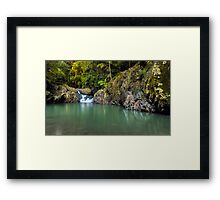 The Cascades of Mt Cougal Framed Print