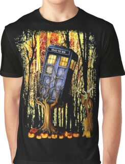 Haunted Blue Phone Box captured By witch Graphic T-Shirt