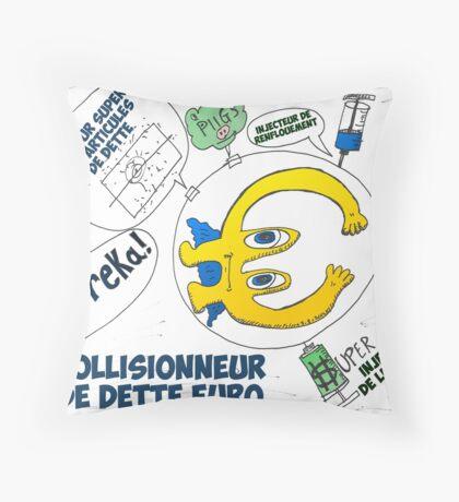 Collisionneur de dette EUR Throw Pillow