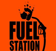 FuelStation with Handprint (black) Unisex T-Shirt