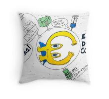 Euro Debt Collider Throw Pillow
