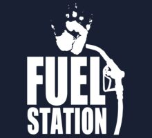 FuelStation with Handprint (white) by Rainer Steinke