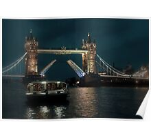 Tower Bridge and River Boat Poster