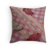 pretty buttons and bows Throw Pillow