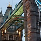 Olympic Symbol on Tower Bridge by Karen Martin