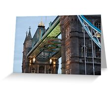 Olympic Symbol on Tower Bridge Greeting Card