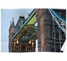 Olympic Symbol on Tower Bridge Poster