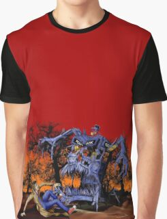 Weird Cursed British blue Phone box Monster Graphic T-Shirt