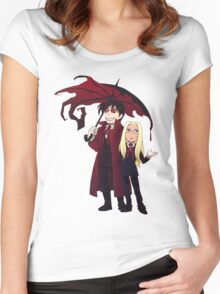 Hellsing and Alucard - Cartoon Style Women's Fitted Scoop T-Shirt