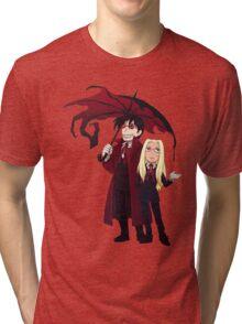 Hellsing and Alucard - Cartoon Style Tri-blend T-Shirt