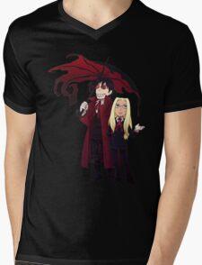 Hellsing and Alucard - Cartoon Style Mens V-Neck T-Shirt