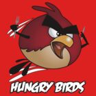 Hungry Birds - Angry Birds Parody: Red Bird by dalgius