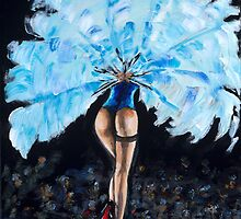Burlesque - Derrier in Blue by mantonart