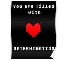 You're filled with DETERMINATION Poster