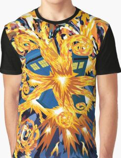 Exploded Phone booth Digital painting Graphic T-Shirt