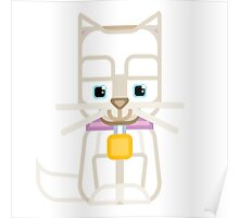 Cute Kitty Cat White Poster