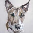 Terrier dog portrait by artbykarie-ann