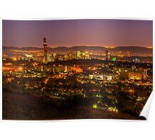 Pretoria CBD at night. Poster