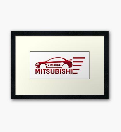 Mitsubishi Lancer Evolution Framed Print