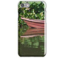 Rowboat drifting. iPhone Case/Skin