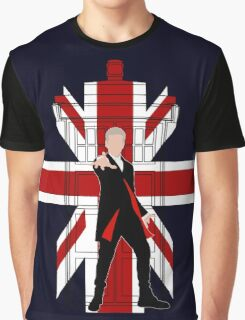 Union Jack British Flag with 12th Doctor Graphic T-Shirt