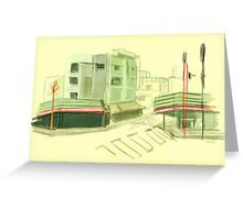 Asakusa Green Greeting Card