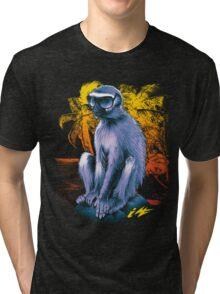 Hipster Vermet Monkey Tri-blend T-Shirt