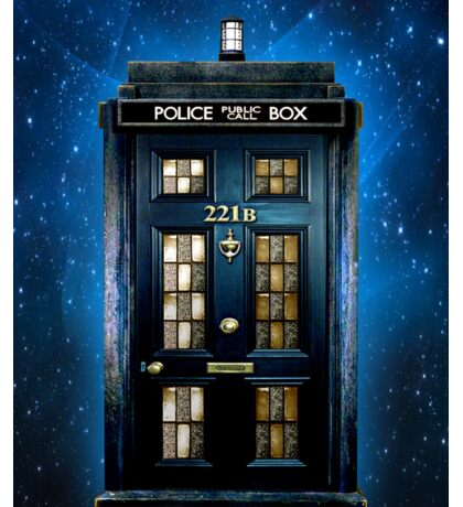 Space Traveller Box with 221b number Sticker