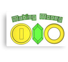 Gaming Currency Canvas Print