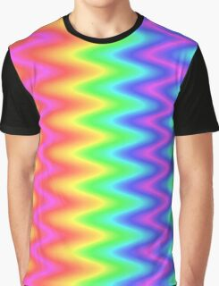 Colour Zig Zag Pattern Design Graphic T-Shirt