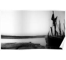 Thames Barge at Dawn Poster