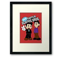 Super Science Bros. Framed Print