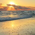 Sunbeams on the Beach by Roupen  Baker