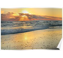 Sunbeams on the Beach Poster