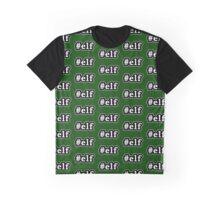 Elf - Hashtag - Black & White Graphic T-Shirt