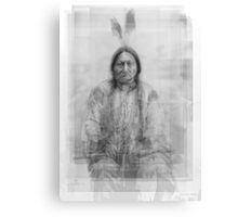 Sitting Bull Portrait Overlay Canvas Print