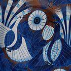 Mexican Plate with Blue Birds - Plato Mexicano con Pajaros Azules by PtoVallartaMex