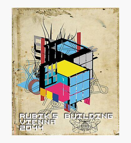 Rubik's building - Vienna 2044 Photographic Print