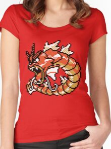 Red Gyarados Retro Women's Fitted Scoop T-Shirt
