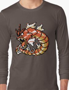 Red Gyarados Retro Long Sleeve T-Shirt