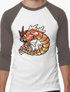 Red Gyarados Retro Men's Baseball ¾ T-Shirt