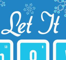 Let It Snow Science Sticker