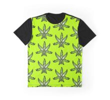 Cannabis Leaf Abstract Green Graphic T-Shirt
