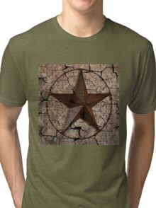 vintage damask rustic western country  texas lone star Tri-blend T-Shirt
