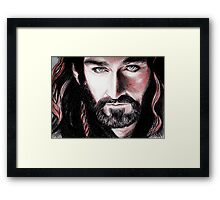 Richard Armitage, Thorin Oakenshield, sanguine Framed Print