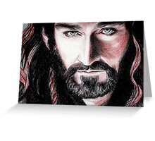 Richard Armitage, Thorin Oakenshield, sanguine Greeting Card