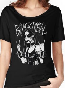 Black Metal Chick Women's Relaxed Fit T-Shirt